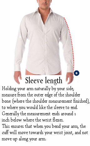 Mens measurement profile hong kong custom for Mens dress shirt sleeve length